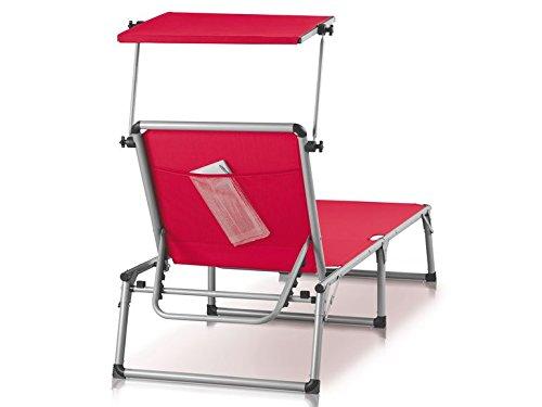 FLORABEST® Aluminium-Sonnenliege, weiß (Rot): Amazon.de: Haustier