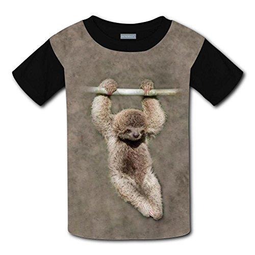 Yangjio T-Shirt Funny Sloth Costume M Short Sleeve For Kids ()