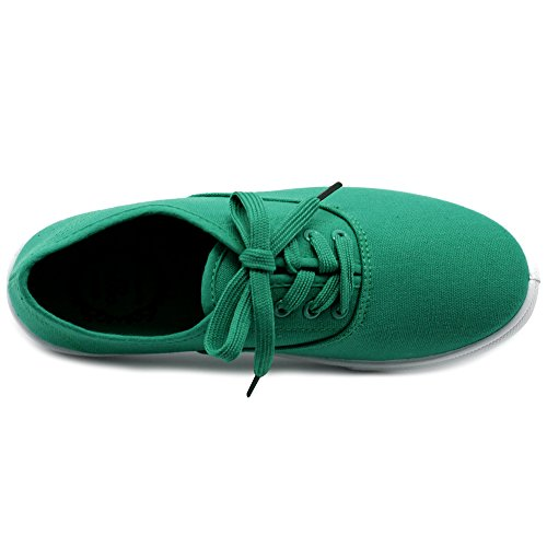 Sneakers Women's Green up Ollio Flats Lace Shoes Canvas PUvWq1R