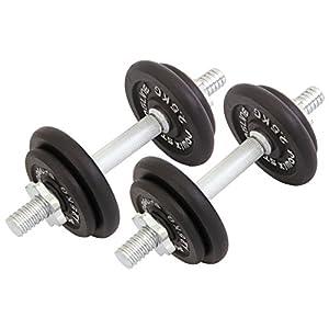 Guss Kurzhantel - Set 20 kg oder 30 kg mit 1,25 kg Scheiben und 2,5 kg...