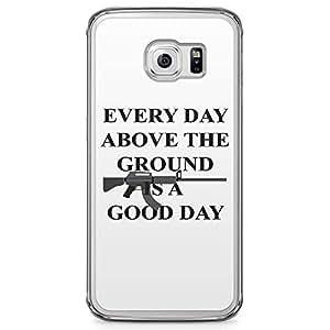 Loud Universe Gun Style Tony Montana Samsung S6 Edge Case Scarface Good daySamsung S6 Edge Cover with Transparent Edges
