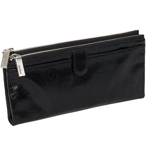 Hobo Womens Leather Vintage Taylor Clutch Wallet (Black)