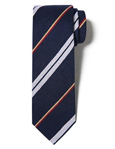 Origin Ties Mens Fashion Pilling Balls Bold Silk Handmade Regimental Striped Vintage 2.5-3.25 Retro Tie