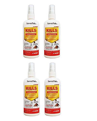 Lice Pump Spray - $averPak 4 Pack – 4 Six Ounce Bottles of JT Eaton Kills Bedbugs, Ticks & Mosquitoes Permethrin Clothing & Gear Treatment Pump Spray