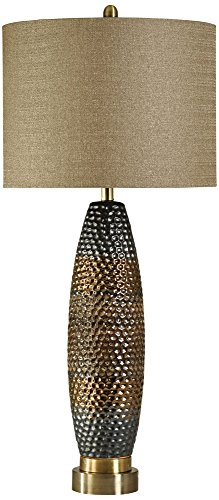 Hammered Metal Table Lamp - 7
