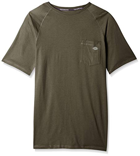 - Dickies Men's Short Sleeve Performance Cooling Tee, Moss Green, XL