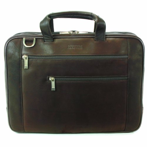 Kenneth Cole Reaction Luggage Double Play Brief, Dark Brown, Medium Kenneth Cole Laptop Briefcase