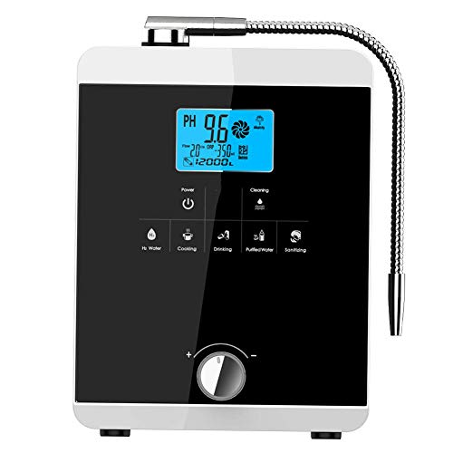 aQuasafe Home Water Ionizer | pH 2.8 to 11 Alkaline Water Machine | Antioxidant Potential up to -800mV | 8000L per Filter