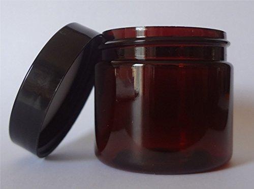 Ointment Oz 2 Jar - Amber 2 oz Plastic Jar Black Lid - Pack of 12