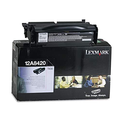 (LEX12A8420 - Description : Toner Cartridge with Return Program, 105 Pallets - Lexmark 12A8420, 12A8425 Laser Cartridges - Each )