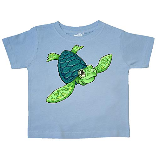 inktastic - Sea Turtle with Swirls Toddler T-Shirt 3T Light Blue 35d35 ()