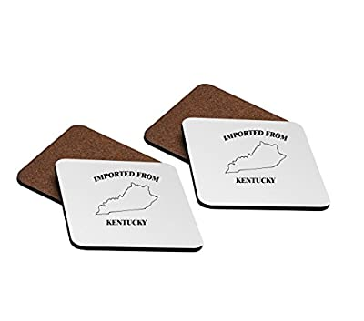 Imported From Kentucky 4''x4'' Hardboard Coasters - Set of 4