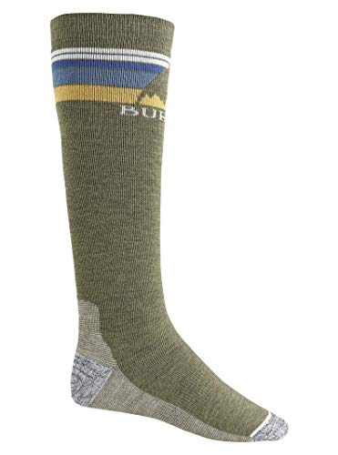 Burton Men's Emblem Midweight Sock, Olive Heather, Large (Cheap Burton Snowboards)