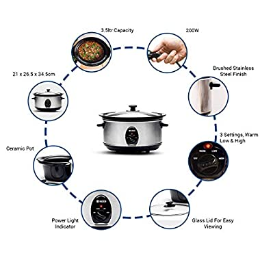 Sabichi Haden 3.5L Slow Cooker/Electric Multi-Function Cooker/Rice Cooker 14