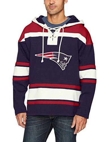 NFL New England Patriots Men's OTS Lacer Pullover Hood, Light Navy, X-Large