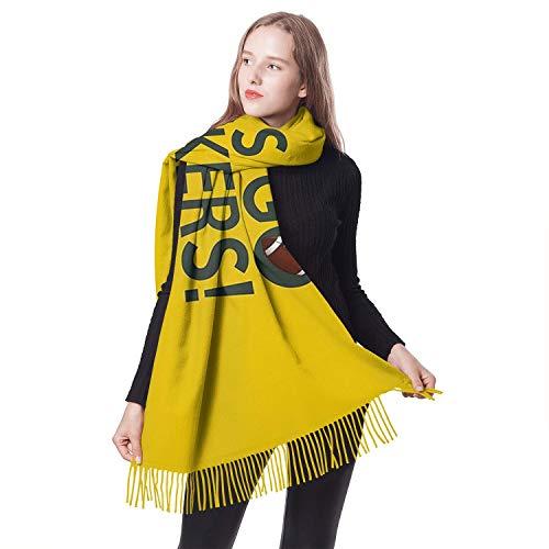 Girls ScarfsNew Warm Tassel Wrap Oversized (Green Bay Packers Silk Scarf)