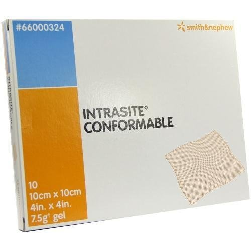 INTRASITE CONFORMABLE DRESSING 10X10CM 10 DRESSING - 10 by Intrasite