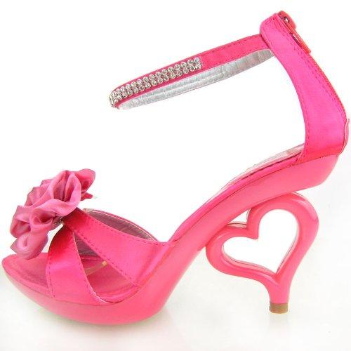 Mostrar historia 20 colores flor desmontable tobillo correa novia sandalias zapatos de boda, SM33101 Color de rosa caliente