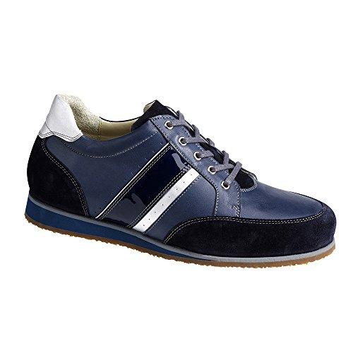 Piedro  Piedro Mens Sports Shoes 3560,  Herren Durchgängies Plateau Sandalen mit Keilabsatz , blau - blau - Größe: 43,5 EU