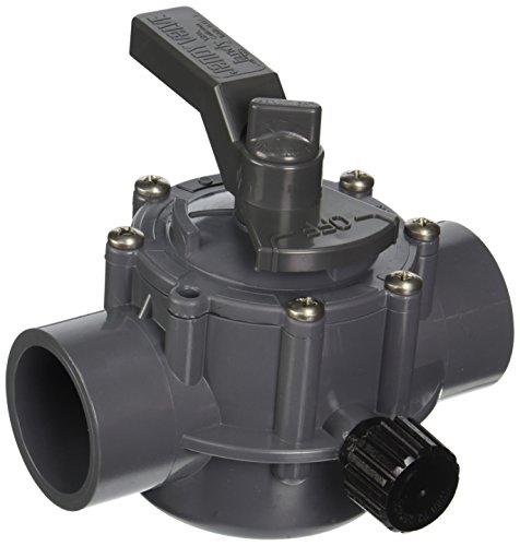 Jandy 1157 2-Port 1-1/2 by 2-Inch Positive Seal Valve, Gray