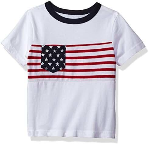The Children's Place Baby Boys' His Li'l Short Sleeve Americana T-Shirt