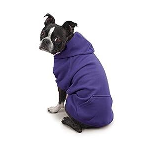 Zack & Zoey Polyester/Cotton Basic Dog Hoodie, Medium, 16-Inch Ultra Violet