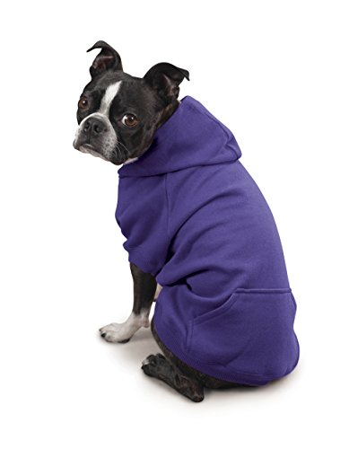 Zack & Zoey Polyester/Cotton Basic Dog Hoodie, Medium, 16-Inch Ultra Violet