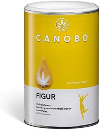 CANOBO® FIGUR | Slim Diät Shake | Leckerer Vanille Geschmack | Hoher Protein Gehalt [> 50%] | Wenig Zucker [< 2%] | Mahlzeitenersatz | Gewichtsabnahme | Appetithemmer | Langanhaltende Sättigung