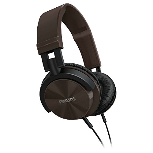 Philips Original Stereo Over Ear Headphones for Apple iPhone 4 4S 5 5S 6 iPod iPad / Samsung Galaxy S3 S4 S5 S6 Note 2 3 4 / Other 3.5mm Jack Music Player or Cell Phone (Brown)