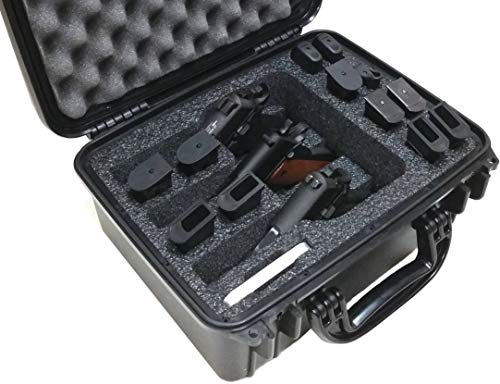 Case Club Waterproof 3 Pistol Case with Silica Gel to Help Prevent Gun Rust
