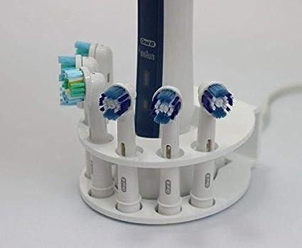 Soporte de cabezal de cepillo eléctrico para dientes y soporte de batería para 6 x cabezales