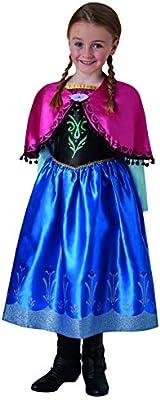 Halloweenia Disfraz de Anna Frozen Deluxe para niña, Vestido de ...