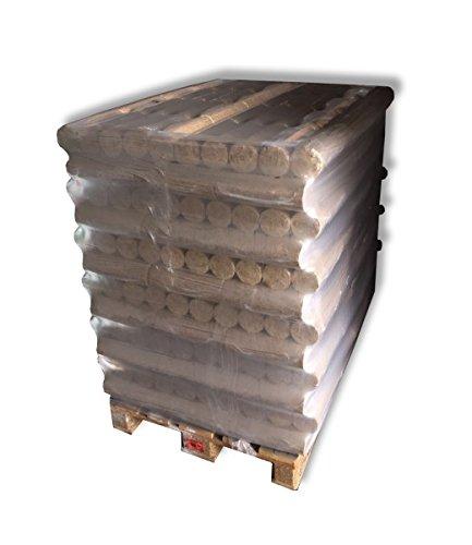 1 Palette 96 Pack Holzbriketts rund ohne Loch á 10kg Brennholz Briketts - aus reinem Nadelholz - ohne Verwendung von Bindemitteln Brennstoff