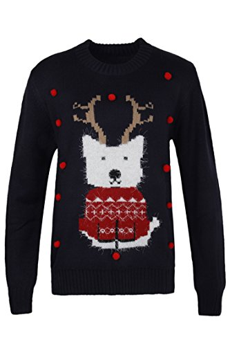 Pink Queen Unisex Ugly Christmas Xmas Pullover Sweater Jumper Fox M Fox Cardigan Sweater