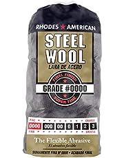 Steel Wool, 12 pad, Super Fine Grade #0000, Rhodes American, Final Finish