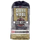 Homax 10120000 Steel Wool, 12 pad, Super Fine Grade #0000, Rhodes American, Final Finish