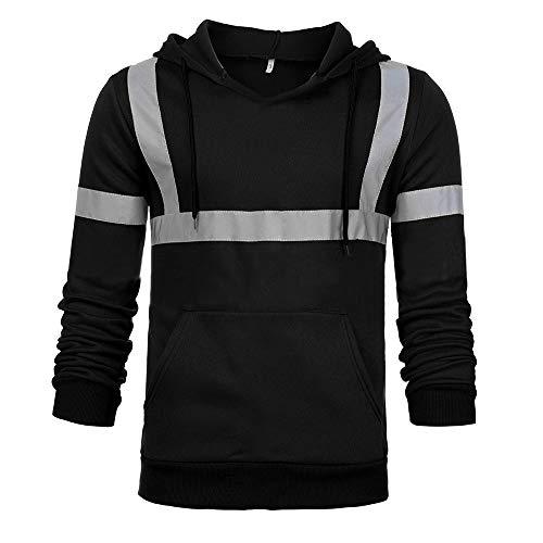 Travailleur Homme✪robemon Manches Blouse Sweatshirt Noir Tops Hooded Visibilité Route Longues Pullover Haute Homme qCREd