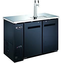 UDD-24-48 Black Kegerator / Beer Dispenser 1/2 Keg Capacity
