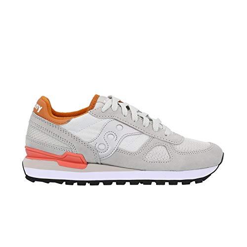 Saucony Originals Women's Shadow Original Sneaker, Light Grey/Burnt Orange, 9 M US