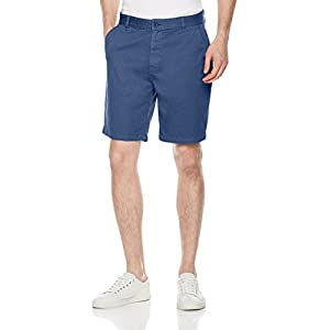 Quality Durables Co. Men's Stretch Cotton Regular-Fit Chino Flat-Front Short