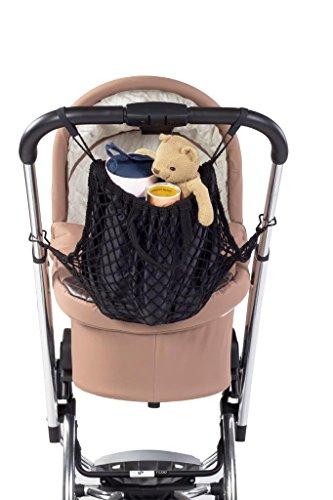 Reer 1211.5 - Bolsa de la compra de red con asa para sillas de paseo, color negro