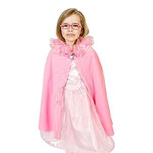 Lucy Locket - Disfraz/capa de princesa color rosa (3-8 años)