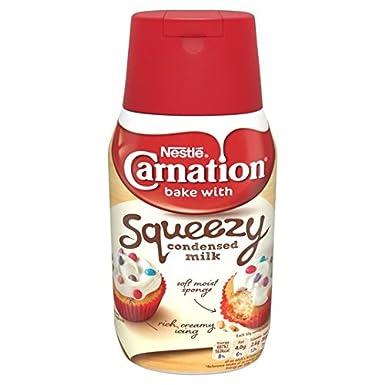 Clavel edulcorada 450g botella de leche condensada Squeezy: Amazon ...