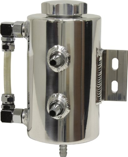 Aluminum Steering System (Universal Aluminum Power Steering Overflow Tank - Polished)