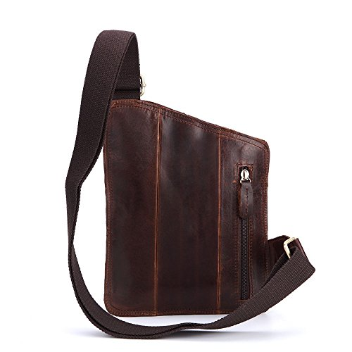 Tourism Leather Cycling Men Portable Bag Chocolate Aihifly on Carry Bags Shoulder color Sports Chocolate Genuine Crossbody Chest Messenger Backpack 5ZIRg6wq