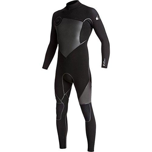 (Quiksilver 3/2mm Syncro Plus Back Zip Men's Wetsuits - Black/Black/Jet Black/Medium Tall)