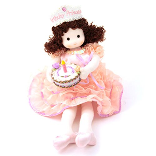 Green Tree Musical Doll - Green Tree Products Birthday Princess Brunette Musical Doll