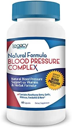HIGH Blood Pressure Pills to Lower Blood Pressure Naturally w/Niacin, Hawthorne Berry, Forskohlii, Garlic & Vitamins B-6, B-12, C Supplement - Fights Hypertension & Supports Normal, Healthy BP