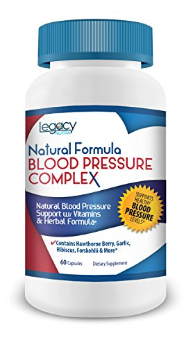 HIGH BLOOD PRESSURE PILLS to Lower Blood Pressure Naturally w/ Niacin, Hawthorne Berry, Forskohlii, Garlic & Vitamins B-6, B-12, C Supplement - Fights Hypertension & Supports Normal, Healthy BP