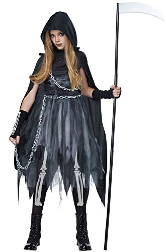 California Costumes Reaper Girl Costume, Small, Black/Gray (Horror Girls)